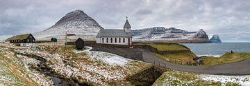 De kerk van Vidareidi van Denis Feiner