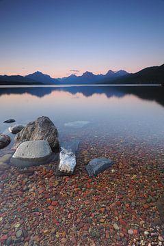Coucher de soleil sur le lac McDonald - Parc national des Glaciers sur Wilco Berga