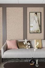 Kundenfoto: Symphonie in Fleischfarbe und Pink: Porträt von Frau Frances Leyland, James McNeill Whistler, auf leinwand