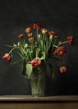 Tulpen op de vaas van Lysanne Artcrafx