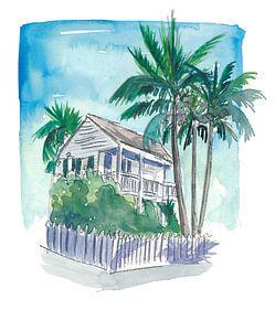 Key West Florida Conch Dream House - Palmen und Balkon von