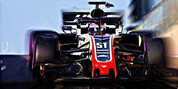 Fittipaldi testing Haas F1 van Jean-Louis Glineur alias DeVerviers
