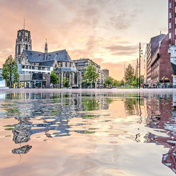 Waterspiegeling Binnenrotte van Frans Blok