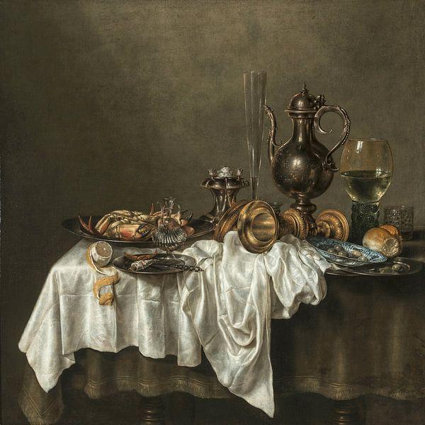 Ontbijt, met krab, Willem Claesz. Heda, van Meesterlijcke Meesters