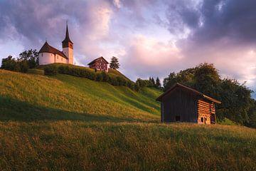 Kirche im Abendlicht von Markus Stauffer