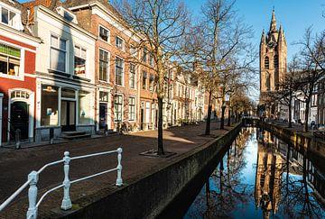 Delft la Grande Eglise sur Brian Morgan