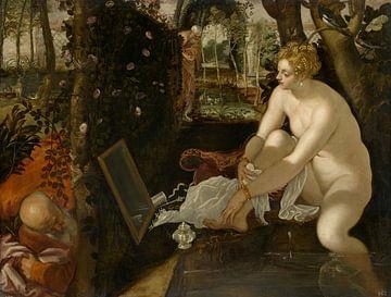 Tintoretto, Susanna und die Ältesten - 1556