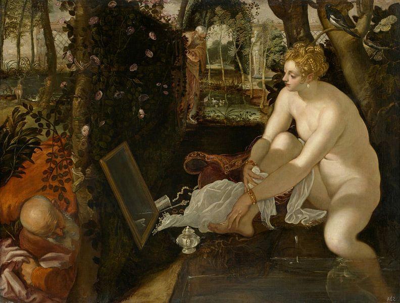 Tintoretto, Susanna und die Ältesten - 1556 von Atelier Liesjes