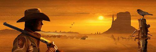 Der wilde Westen in Panorama von