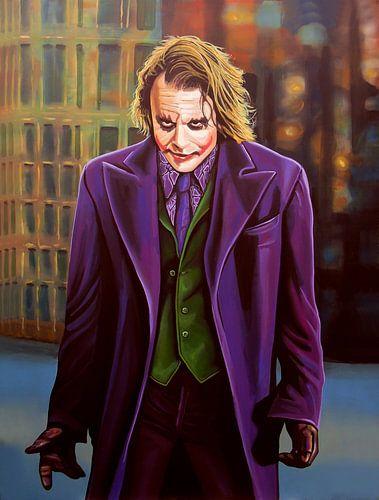 Heath Ledger as The Joker Schilderij van Paul Meijering