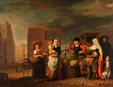 Gemüsemarkt, Nicolaes Maes