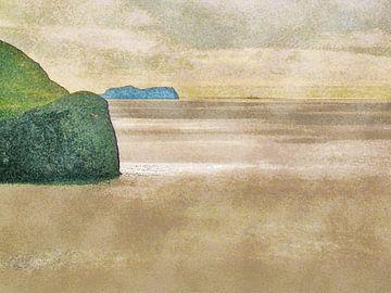 De oceaan bij Heimaey, IJsland van Frans Blok