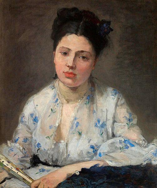 Junge Frau, Berthe Morisot von Meesterlijcke Meesters