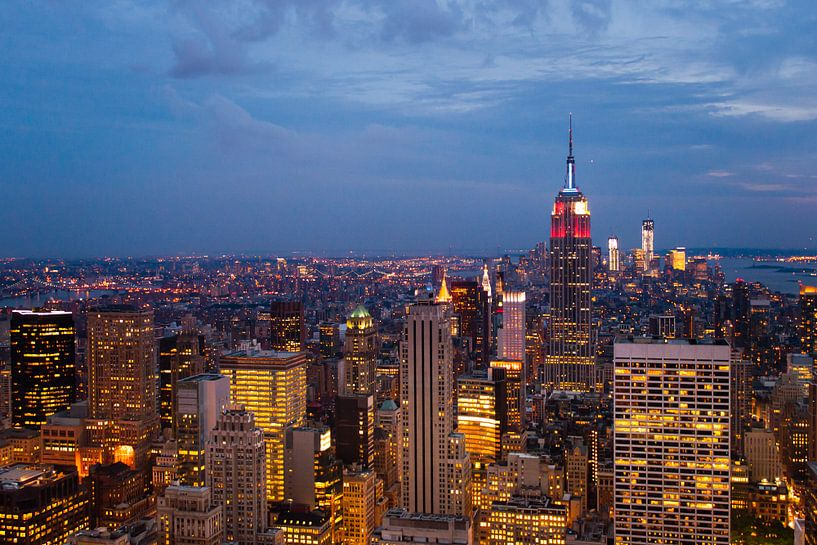 New York bei Nacht. von Laura Vink