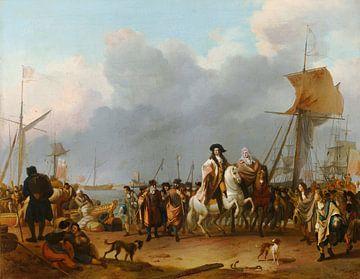 Die Ankunft des Stadholder-Königs Willem III im Oranjepolder, Ludolf Bakhuizen.