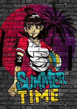 Anime Sommer BeachVolleyball von KalliDesignShop