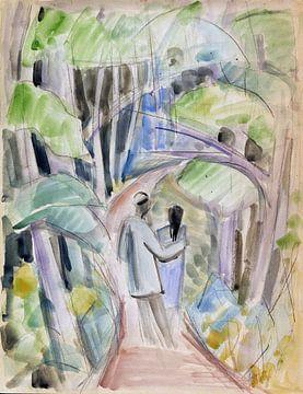 Spaziergänger, Dorothea Maetzel-Johannsen, 1919 von Atelier Liesjes