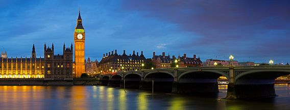 Panorama Big Ben te Londen
