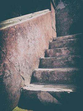 Vuurtoren Klein Curaçao - trap von Rene van Heerdt