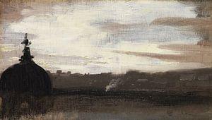 Rom, Blick über die Dächer der Stadt, 1800-1850
