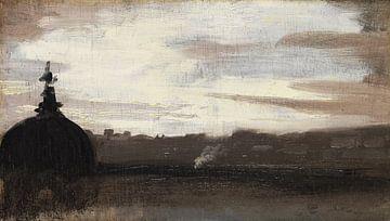 Rom, Blick über die Dächer der Stadt, 1800-1850 von Atelier Liesjes