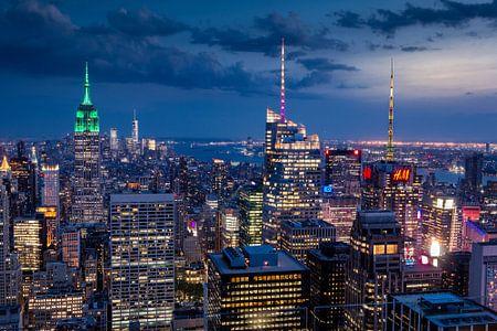 New York   im Abendlicht von Kurt Krause