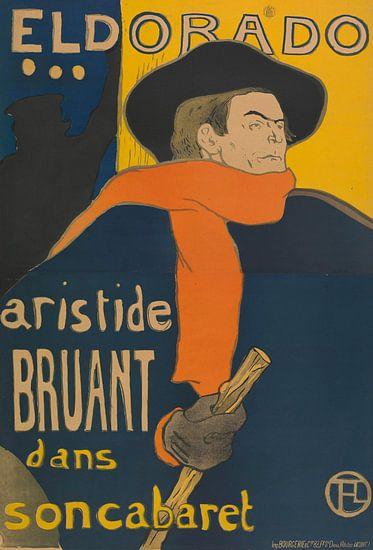 Affiche voor het optreden van Aristide Bruant in het café-concert Eldorado van Prints in Paris