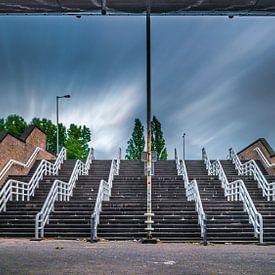 De trappen bij De Kuip van Danny den Breejen