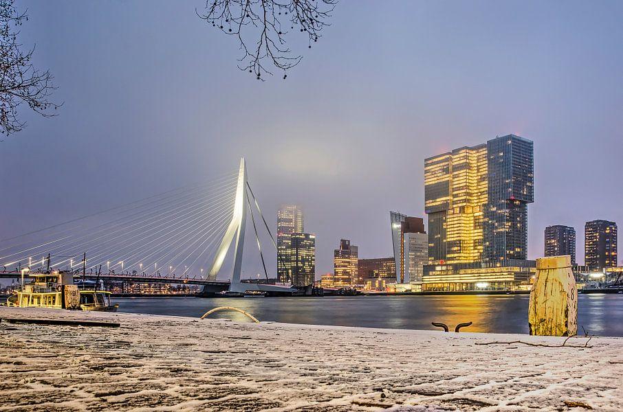 Winter op de Willemskade van Frans Blok