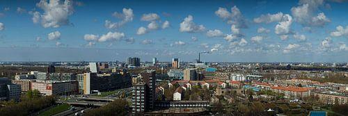 Skyline Amsterdam West panorama  van PIX URBAN PHOTOGRAPHY