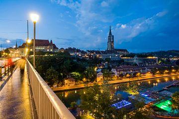 Bern in der Schweiz am Abend von Werner Dieterich