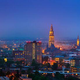 Groningen by night van Henk Meijer Photography