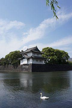 Paleis van de keizer in Tokyo Japan - verdedigingstoren Tatsumi Yagura van kasteel Edo van Vincent Cornelissen