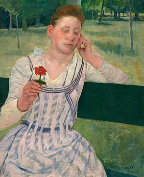 Frau mit einer roten Zinnia, Mary Cassatt