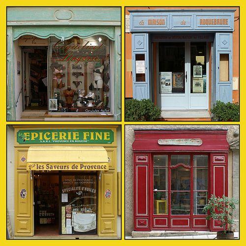Collage van antieke Franse winkelpuien (type A) van