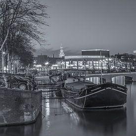 Magere Brug und die Amstel in Amsterdam am Abend  von Tux Photography
