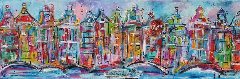 Grachten van Amsterdam van Kunstenares Mir Mirthe Kolkman van der Klip