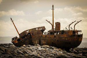 Ierland - Galway - Inis Oirr - schipbreuk