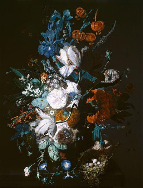 Vase mit Blumen, Jan van Huysum von Meesterlijcke Meesters
