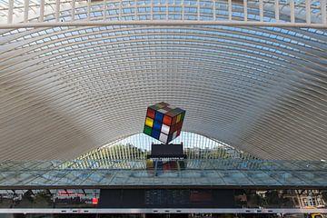 Dach des Bahnhofs Lüttich-Guillemins von Wim Stolwerk