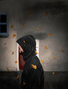 Wandeling in de regen  van