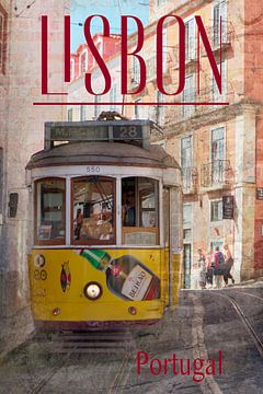 Tram in Lissabon van Berthold Werner