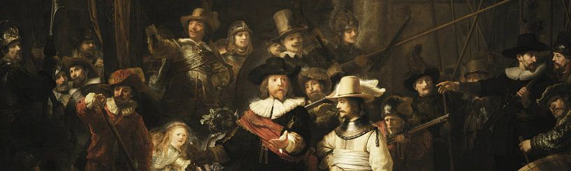 Die Nachtwache (Ausschnitt), Rembrandt van Rijn von Rembrandt van Rijn