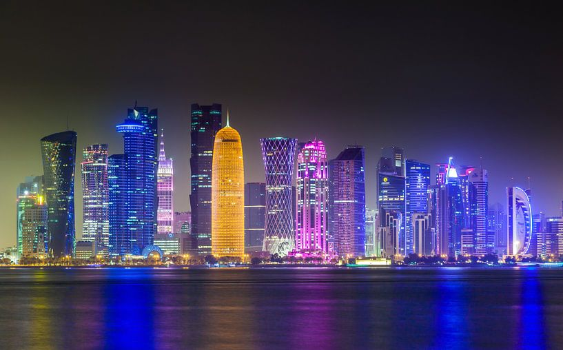 Skyline von Doha, Katar von Jan Schuler