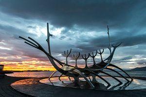 Solfar, ein berühmtes isländisches Kunstwerk. von Gerry van Roosmalen