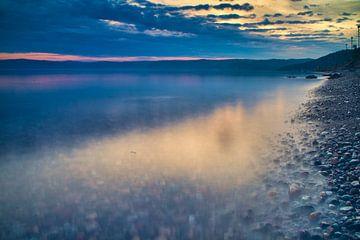 Zonsondergang Baikalmeer van