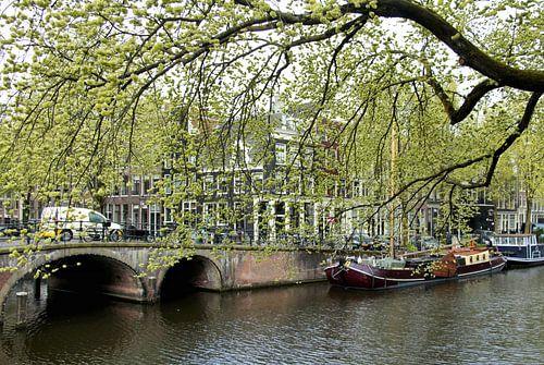 Aan de Amsterdamse grachten van