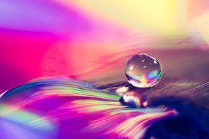 Waterdruppel met vele kleuren van