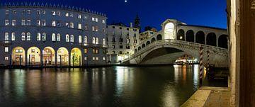 s Nachts bij de Rialtobrug (Venetië) van Andreas Müller
