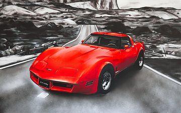 Chevrolet Corvette Lackierung (rot) von Jos Hoppenbrouwers